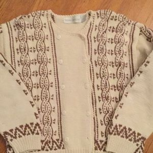 Robert Scott cotton cardigan large